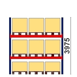 Kaubaaluste riiulid H=3975 BASIC