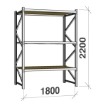 Metallriiulid sari 2200 H x 1800 L