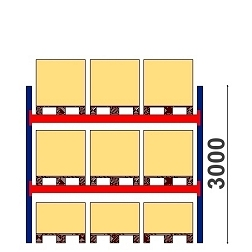 Kaubaaluste riiulid H=3000 BASIC