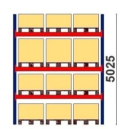 Kaubaaluste riiulid H=5025 BASIC