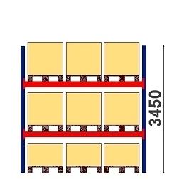 Kaubaaluste riiulid H=3450 BASIC