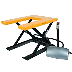 Stationary lifting tables