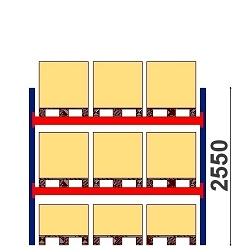Kaubaaluste riiulid H=2550 BASIC