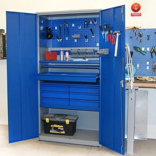 56d57e87108 ... Metallkapp tööriistadele 2000x1020x540 RAL 7035/5010 ...