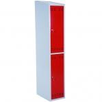 Riidekapp 2 uksega, punane/hall, 1920x350x550