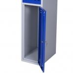 Riidekapp 2 uksega, sinine/hall, 1920x350x550