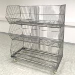 Wire stack container set with wheels 1182x595x1380, 3 levels