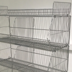 Wire stack container set with wheels 1182x595x1533, 4 levels