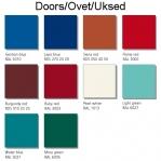 4-tier locker, 4 doors, 1850x420x500 mm