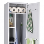 Cleaning cupboard 1900x400x415 RAL 7035