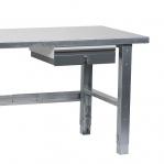 Töölaud 1500x800 sahtli ja tsingitud jalgadega