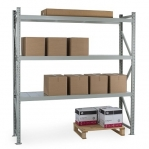 Starter bay 2500x1200x500 600kg/level,3 levels with chipboard