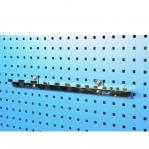 Horisontaalne mutrivõtmete hoidik perfoseinale 70x290 mm