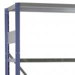 Laoriiul lisaosa 2500x1000x500 200kg/riiuliplaat,6 plaati, sinine/Zn