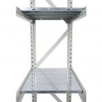 Metallriiul põhiosa 2200x1200x900 600kg/tasapind,3 puitlaast tasapinda