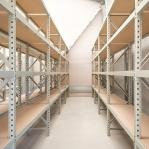 Metallriiul põhiosa 2200x1800x500 480kg/tasapind,3 puitlaast tasapinda