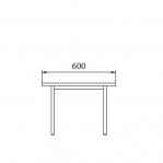Istepink puidust kattega 600x290x420