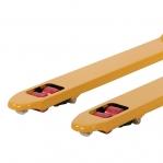 Kahvelkäru 1150x540/2500 kg kummirattad/PU tandem rullik kiirtõstega, kollane