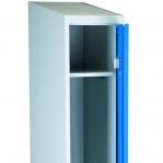 Riidekapp 1 uksega, sinine/hall 1920x350x550