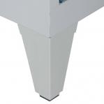 Metallist riidekapp 2x400, 1850x810x500