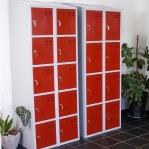 Sektsioonkapp, 10-ust, punane/hall, 1920x700x550