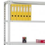 Metallriiul 2500x1000x400, 7 plaati, 120kg/plaat, hall post/zn riiulid