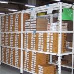 Metallriiul 2500x1000x400, 6 plaati, 120kg/plaat, hall post/zn riiulid