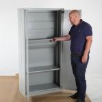 Töökojakapp Easy 1800x900x400, sinine RAL5010, kiirelt kokkupandav