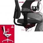Kontoritool Office Lux 645 NS polsterdatud kangaga, kõrgus 470-610 mm
