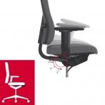 Kontoritool Office Lux 430 polsterdatud kangaga, kõrgus 470-610 mm