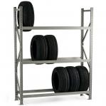 Metallriiul põhiosa 2500x2300x500 350kg/tasapind,3 tsinkplekk tasapinda