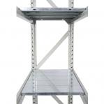Metallriiul põhiosa 2500x1200x900 600kg/tasapind,3 puitlaast tasapinda