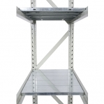 Metallriiul lisaosa 2500x1500x500 600kg/tasapind,3 puitlaast tasapinda