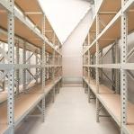 Metallriiul põhiosa 2500x2300x900 350kg/tasapind,3 puitlaast tasapinda