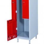 Z- metallkapp, 2 ust, 1920x400x550, sinine/hall