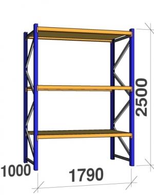 Põhiosa 2500x1790x1000 360kg/tasapind, 3 puitlaastplaadist tasapinda