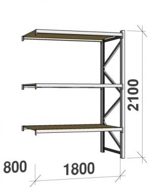 Laoriiul jätkuosa 2100x1800x800 480kg/tasapind,3 PLP tasapinda