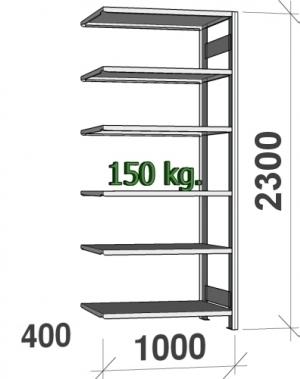Laoriiul lisaosa 2300x1000x400 150kg/riiuliplaat,6 plaati