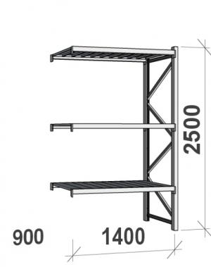 Laoriiul jätkuosa 2500x1400x900 600kg/tasapind,3 tsinkplekk tasapinda