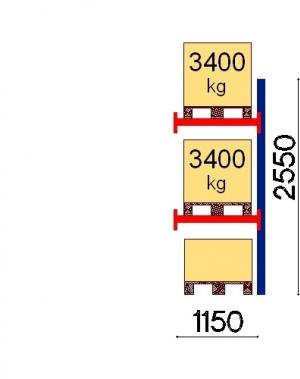 Kaubaaluse riiul lisaosa 2550x1150 3400kg/alus,3 alust