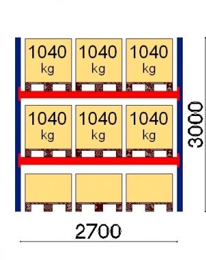 Starter bay 3000x2700 1041kg/pallet,9 EUR pallets