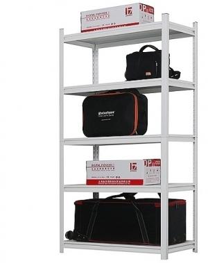 Storage rack 1982x1000x300, 5 levels Light Grey