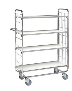 Flexibel shelf trolley 4 shelves 1195x470x1590mm, 250kg
