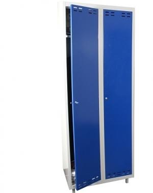 Riidekapp 2 uksega, Sinine/hall, 1920x700x550