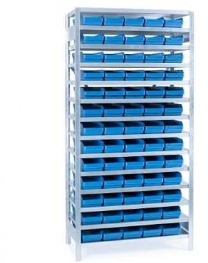 Box shelf 2100x1000x400, 65 boxes 400x180x95