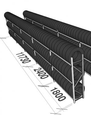 Rehviriiul 40-jalasesse konteinerisse 312 rehvi