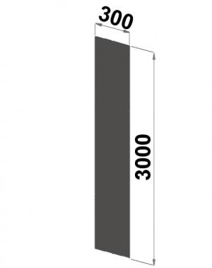 Küljeplekk 3000x300