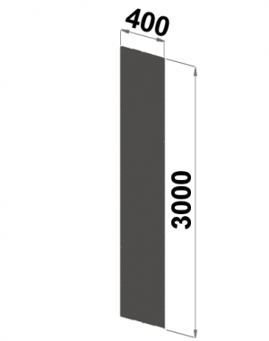Küljeplekk 3000x400
