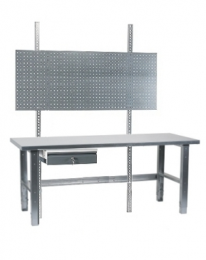 Workstation 1500x800 with steel top