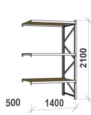 Laoriiul jätkuosa 2100x1400x500 600kg/tasapind,3 PLP tasapinda